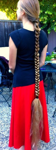 Natural looking way to extend your hair in a braid by adding synthetic hair to it