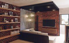 лофт дизайн квартиры - Поиск в Google