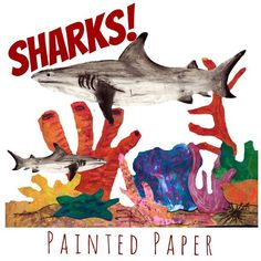 It's Shark Week!!! Kids love Sharks! Period. Why not create some of these awesome creatures in their beautiful coral reef habitats? These mixed media projects are sure to delight children. Lesson plan in shop link in profile. #sharks #kidsart #artsed #arteachersofinstagram #artprojects #teachersfollowteachers #teachersofinstagram #teacherspayteachers #paintedpaper