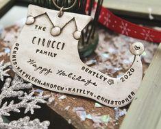 Elf Shoe Christmas Ornament Personalized Family Christmas | Etsy