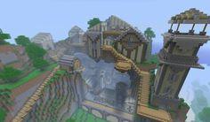 Minecraft farm, minecraft construction, minecraft tips, minecraft blueprint Minecraft Cliff House, Minecraft Mountain Castle, Minecraft Farmen, Construction Minecraft, Minecraft Tutorial, Minecraft Mansion, Amazing Minecraft, Minecraft Houses Blueprints, Minecraft House Designs