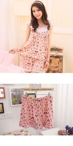 035bd887a3 Summer print lace round neck milk silk womens shorts sleepwear set aria  sleepwear robes  bloomingdales  sleepwear  robes  dillards  sleepwear   robes ...