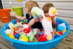 Bubbly ball pit, great for supporting children with a rotation schema.