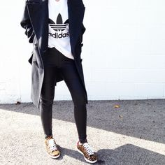 Adidas, Isabel Marant x HM Coat and Isabel Marant Leopard Bart Sneakers