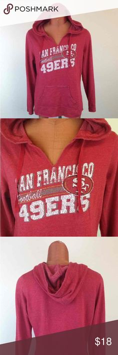 SF 49er vintage inspired Hoodie Cheer in your favorite San Francisco football team in this vintage inspired hoodie. Tops Sweatshirts & Hoodies