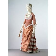 Evening dress, 1876-1878 | V Search the Collections