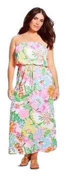 Pink Maxi Dress by Lilly Pulitzer Nosey Posie #Maxi Floral #lillypulitzer #plus