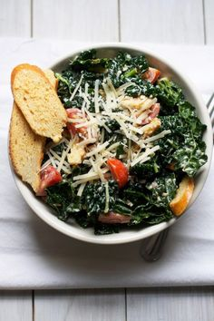 I haven't met a kale salad I didn't like, and this one from @Audra Fullerton // The Baker Chick sounds like it would be a lovely January dish.  Massaged Kale Caesar Salad. /ES