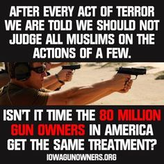 Don't Judge Gun Rights By The Actions Of A Few!