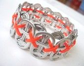 Upcycled Recycled Soda Pop Can Tab Bracelet...project for my teenager!