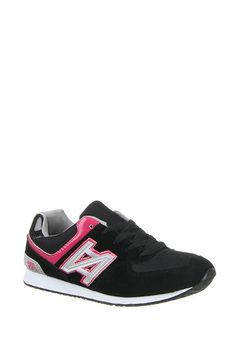 Black Pink Trainers Sneakers
