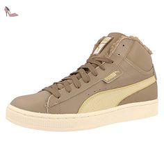 Puma Glyde Leather Mid, Baskets mode homme - Marron (01), 40 EU