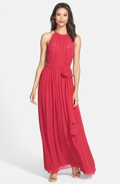 Jill Jill Stuart Chiffon Halter Gown available at #Nordstrom