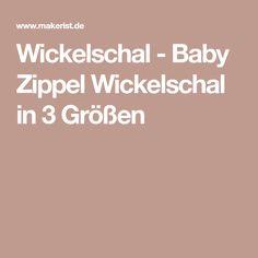 Wickelschal - Baby Zippel Wickelschal in 3 Größen