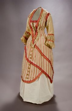 ~Dress, Maria Roux, 1878-1882~ (I just love the spiral effect! LC)
