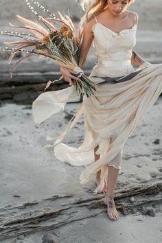 Beach Wedding Photos Arabian Wedding Inspiration from Yas Island Stunning Wedding Dresses, Wedding Dress Styles, Boho Bride, Boho Wedding, Wedding Beach, Wedding Hair, Wedding Trends, Wedding Designs, Wedding Ideas