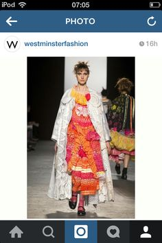 Caroline Day at Westminster University Graduate Collection 2015 @westminsterfashion on instagram