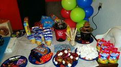 Candy corner for a birthday party