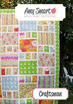 Two fun and easy original modern quilt patterns made using fabric pre-cuts (jelly rolls and layer cakes) projects that come together quickly.