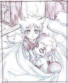 Naruto e Gaara, aaaaaah a vontade de apertar
