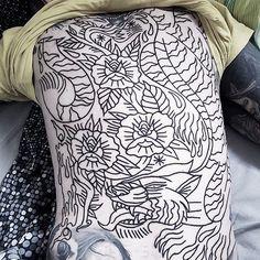 Lines for @knivmicke picture from @sindyniklasson #traditional #tattooartists  #tattoocopenhagen #traditionaltattoo #roblaketattoo #ink #ignorantstyle #darkartists #art  #drawing #formink #flashwork #flashworker #flashworkers #bold #blxckink #blackwork #blackandgrey #blackworkers #blackworkerssubmission  #streettattoo #roblaketattoo #tattoo #tigertattoo #backpiece #backpiecetattoo @blackworkers @blacktattooart