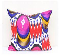 """Ikat pillow cover Delphi  Magenta- 20"""" X 20 """""""
