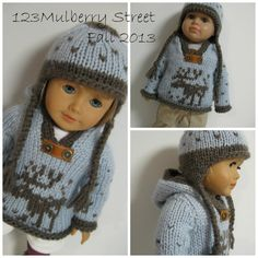 Fall sweater hat set american girl at http://www.etsy.com/listing/164230592/american-girl-doll-clothes-fallsweaters