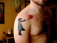Tattoo Ideas:  Banksy Graffiti