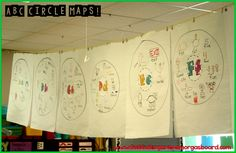 ABC BOOTCAMP! Use circle maps to introduce letters and sounds at the beginning of the year! So much fun for the students!