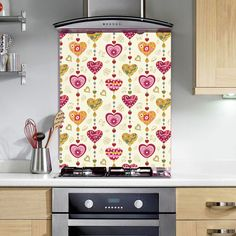 Heart Pattern   Feeling the Love this Valentine's... Why not pick a personalized splashback for your loved one. Have a special place you both shared? We have a wide range of romantic places to choose from.