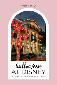 Visit here to learn about Halloween at Disneyland and Disney World on Stroller in the City! If you are looking for things to do for halloween at Disney then this is the blog post for you. There is nothing more fun than going to Disneyland or Disney World for halloween! Year round warm weather makes going to Disney the perfect time for a visit to California or Florida. Get inspired by all of the fun disney halloween decorations as well! #halloween #DisneyWorld #Disneyland