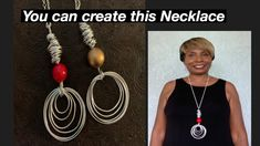 How to Create A Long Aluminum Wire Bead Necklace #16 - YouTube Wire Necklace, Washer Necklace, Diy Jewelry Videos, Diy Tutorial, Beads, Create, Youtube, How To Make, Beading