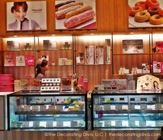 Sweet candy pinks combined with chocolatey browns create an eye catching confectionery boutique at the Skytree Mall in Tokyo.