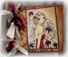 Elegant Fairy Notebook by busysewin - Cards and Paper Crafts at Splitcoaststampers