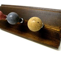 4 Earth Tone Concrete Light Bulb Coat Hooks by UncommonRecycables, $79.00