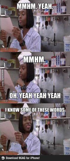 Anytime I take an exam..ever