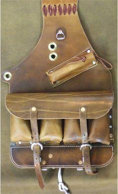 "Medicine Bag   Medicine Saddle Bag, 9""x12"", 10 oz oiled harness leather $350.00"