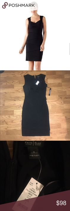 WHBM Brand new out of stock so slimming dress White House black market slimming tank layered dress White House Black Market Dresses Midi