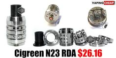 N23 RDA by Cigreen - $26.16 - http://vapingcheap.com/n23-rda-cigreen/