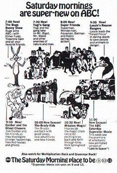 1970s Childhood, Childhood Memories, Vintage Tv, Vintage World Maps, Tv Guide Listings, Saturday Morning Cartoons, 90s Cartoons, Tv Land, I Remember When
