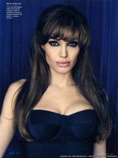 Angelina Jolie. love her bangs!!