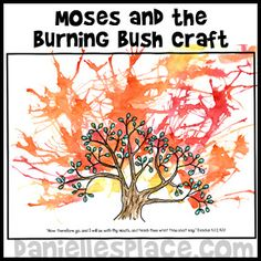 Sunday School Lesson for Children - Moses and the Burning Bush Bible Craft for… Bible Story Crafts, Bible Crafts For Kids, Preschool Bible, Bible Lessons For Kids, Bible Activities, Bible Stories, Sunday School Projects, Sunday School Activities, Sunday School Lessons