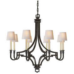 Visual Comfort Lighting E.F. Chapman Mykonos 8 Light Chandelier