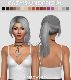 Cazy's Unofficial hair recolors at Hallow Sims via Sims 4 Updates