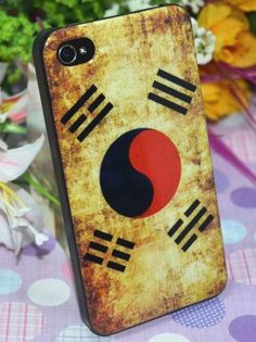 Retro Korean Flag Pattern Protective Case