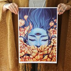 I've just put up some large prints at the shop. ✨ link on my bio.  #art #arte #artsy #artist #artwork #artoftheday #painting #print #oil #oilpainting #myart #audraauclair #occult #mothernature #flowers #bluehair #drawing