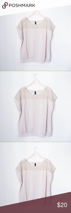PLUS SIZE CUT OUT DETAILED TOP BUST: 27 1/2 inches. LENGTH: 29 inches. Lane Bryant Tops Blouses