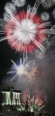 Fireworks at Nagoya Port, Aichi, Japan 名古屋みなと祭