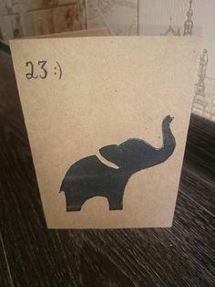 Postcard for an elephant  lover