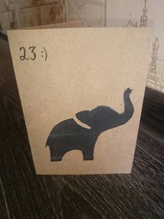 Postcard for an elephant  lover